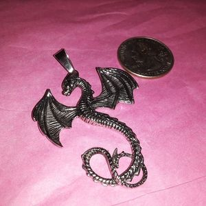 Stainless steel Jewelry - Stainless steel dragon pendant